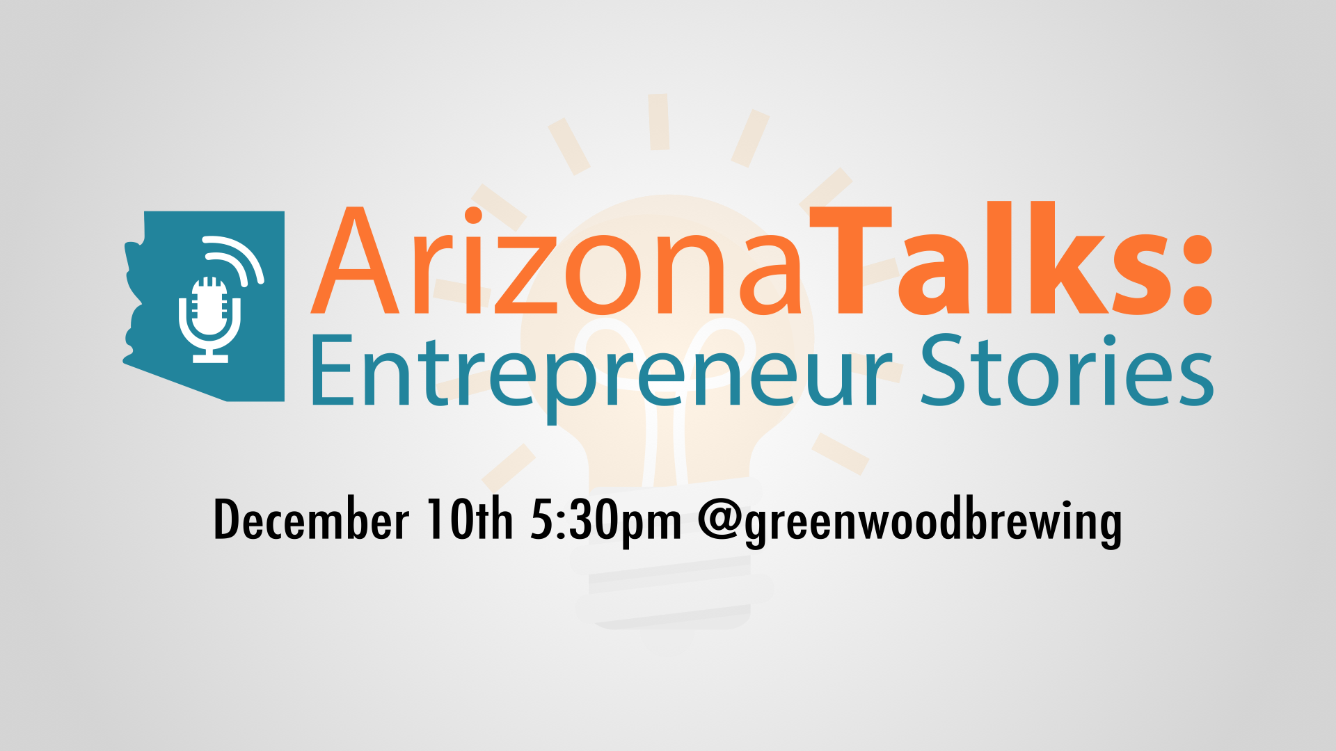 Event banner for Arizona Talks: Entrepreneur Stories
